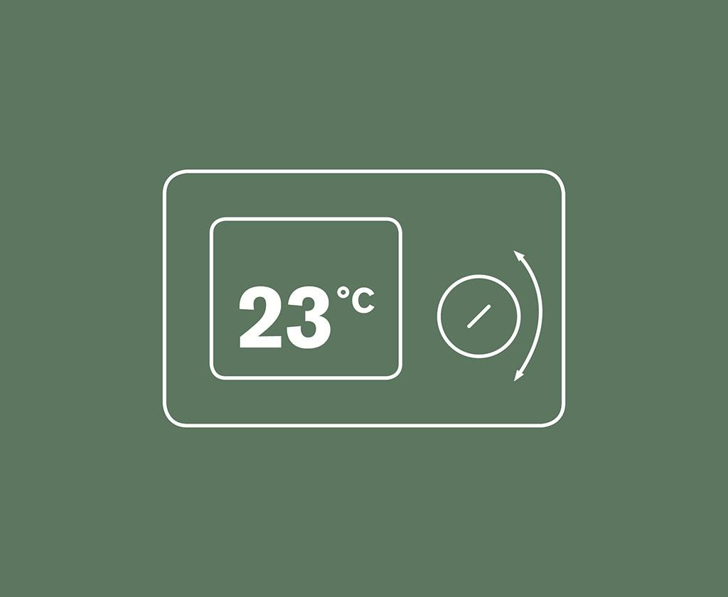 Reglera enkelt värmen på en pelletskamin